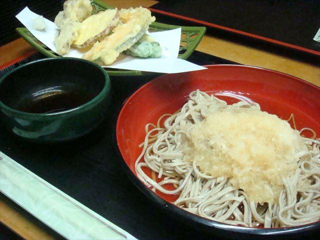 ぶっかけそばと天ぷらセット